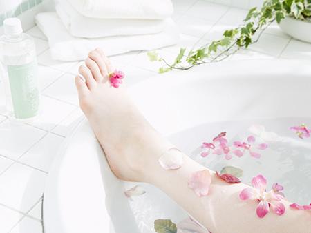 入浴で体温アップ