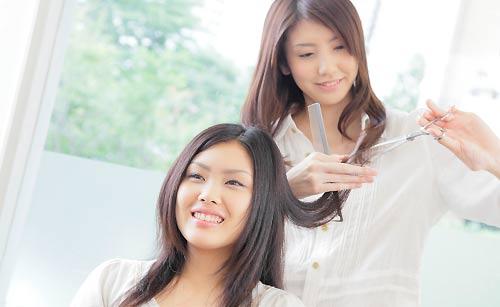 美容師とお客さん