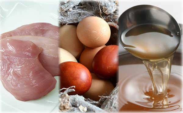卵とじの材料:具・たまご・つゆ