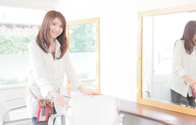 理容師の女性