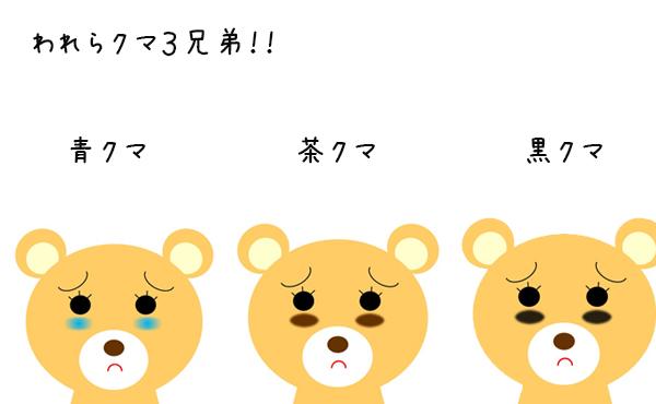 【目の下のクマの簡単対処法】青・茶・黒の3つの色で見分ける!