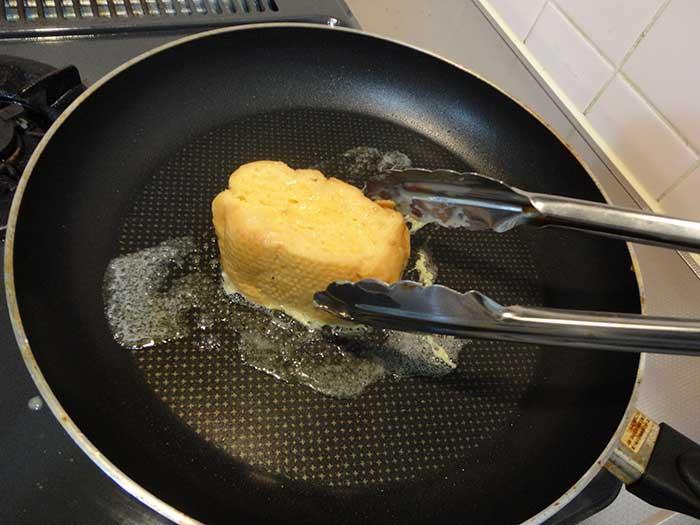 パンの切り口の両面を焼く