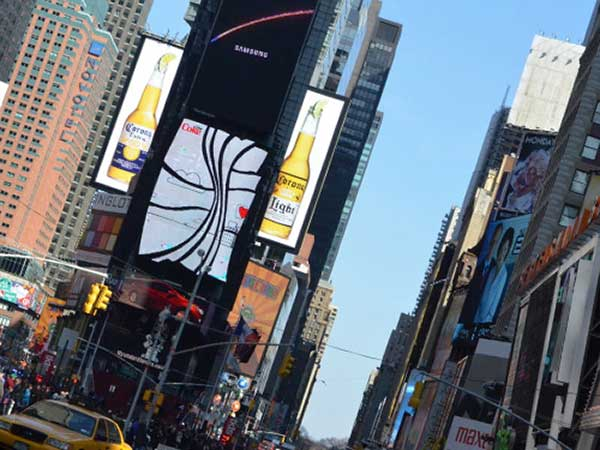 タイムズスクエアの風景