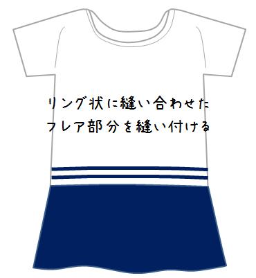 バイカラーぺプラムTシャツ