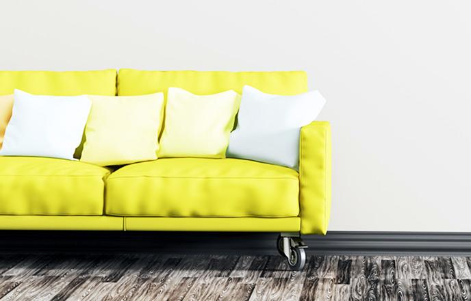 黄色いソファ