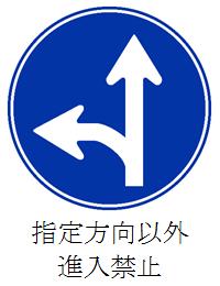 指定方向以外進入禁止