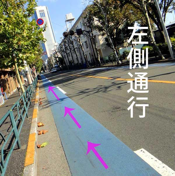 車道の左側通行