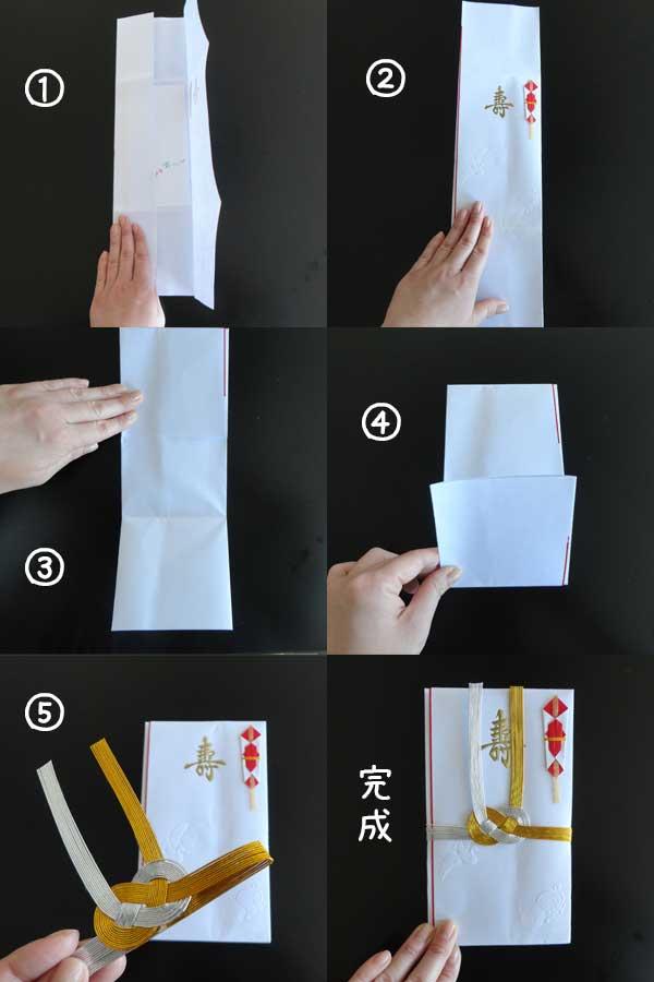 ご祝儀袋の正しい包み方