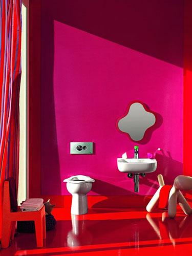 かわいいピンクのトイレ