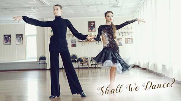 社交ダンスをする男女