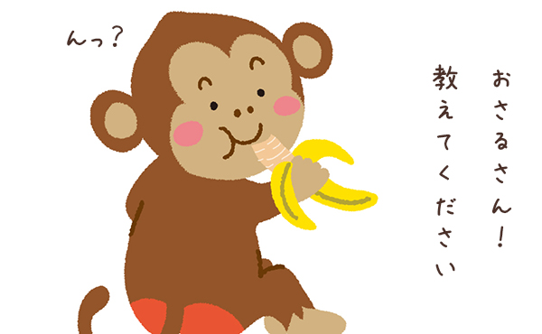 バナナの皮が0.5秒で剥ける!お猿の革命的な剥き方に人類騒然