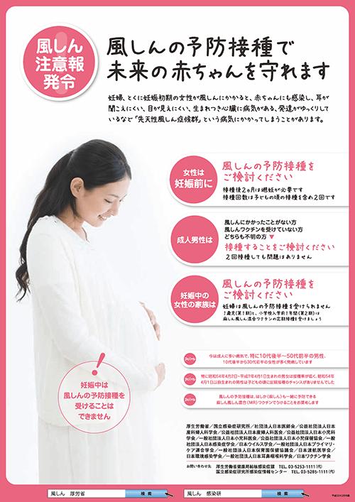 厚生労働省の風疹予防啓発ポスター