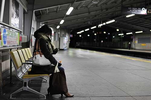 必ず終電で帰るガードが固い女性