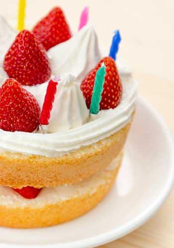 誕生日ケーキにメッセージを添えて