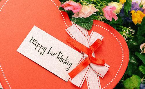 プレゼントとバースデーメッセージ