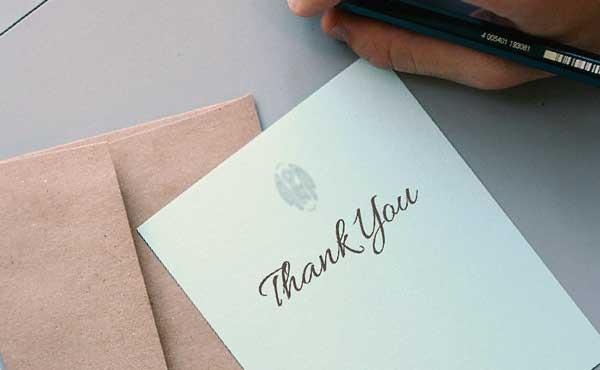 感謝を伝える手紙