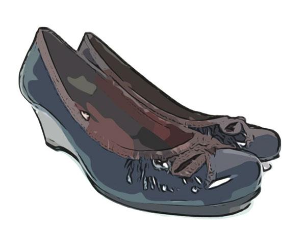 ウェッジソールの靴