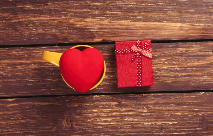 ハートとバレンタインチョコ