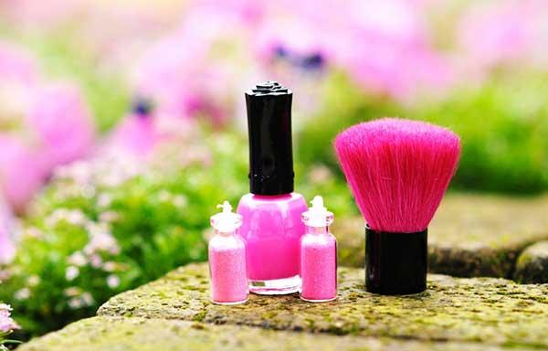 ピンクのネイルセット