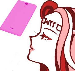 ピンクスマホ