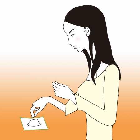 塩盛する女性イラスト