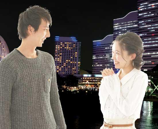 夜景を見ながらデート