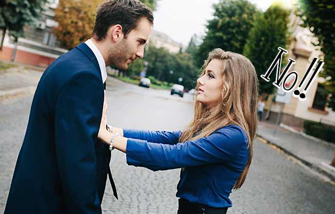 彼氏を拒否する女性