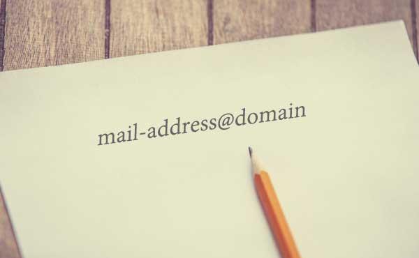 メールアドレスを書いた紙