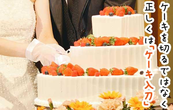ケーキを着るではなく「ケーキ入刀」が正しい言い方です