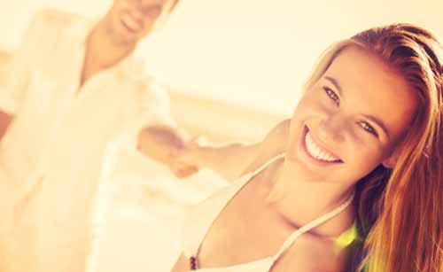 健康的で明るい女性
