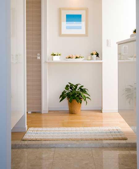 清潔な玄関