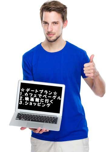 PCを持った男性
