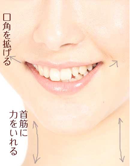 口角を拡げる運動