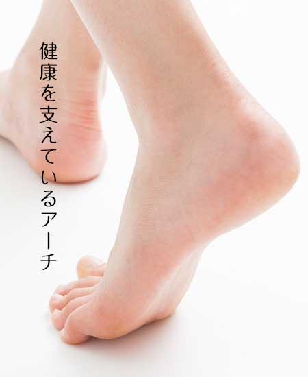 歩行する足のアーチ
