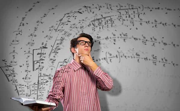 学問を研究する男性