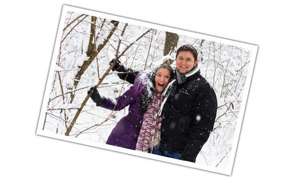 冬のカップル写真