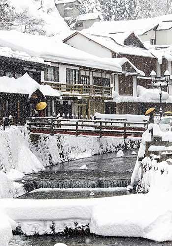 冬景色の街並み