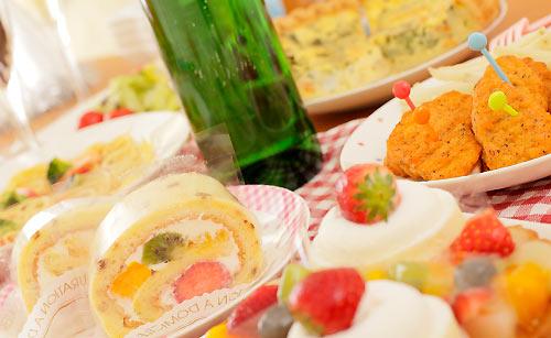 ケーキと食べ物