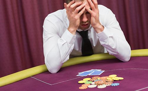 ギャンブルで負けた男