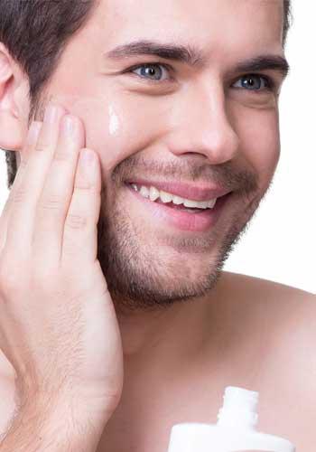 美肌を意識する男性