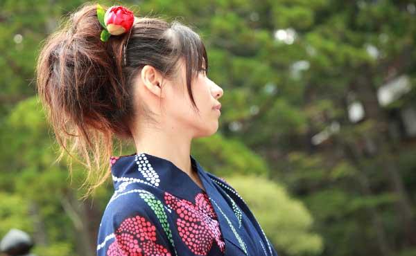 日本の和の美人女性