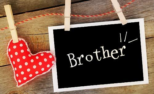 ブラザー(兄弟)と書かれたメッセージボード