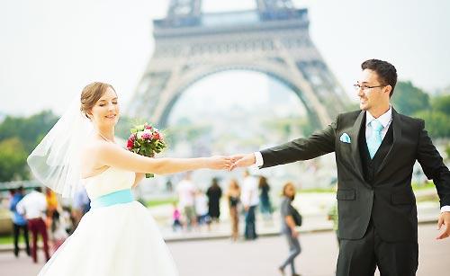 幸せな新婚