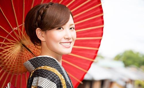 傘を持った京都美人