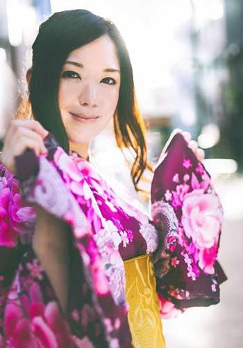 浴衣美人の日本人