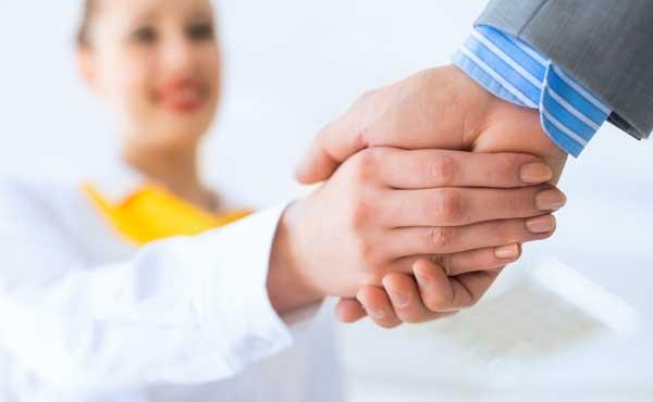 挨拶の握手