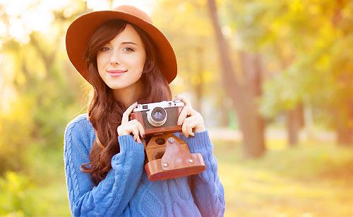 シンプルにオシャレなカメラ女子