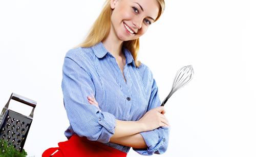 料理上手なしっかり者の女性