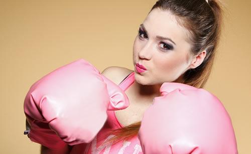 サバサバした女性ボクサー