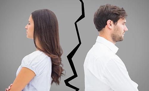 亀裂が入ったカップル